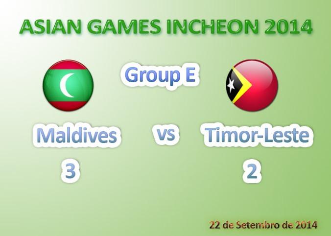 Timor-Leste U23 (2) vs (3) Maldives U23 - 22 de Setembro de 2014