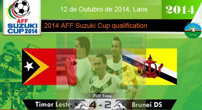 TIMOR-LESTE 4 - 2 BRUNEI DS (2014 AFF Suzuki Cup qualification)