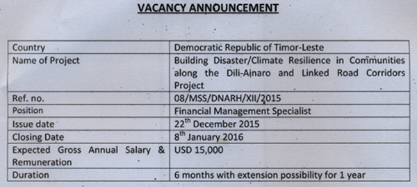 Vacancy Announcements DNARH